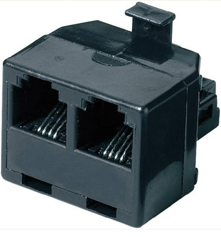 Western Y adaptér 0 m černá Basetech