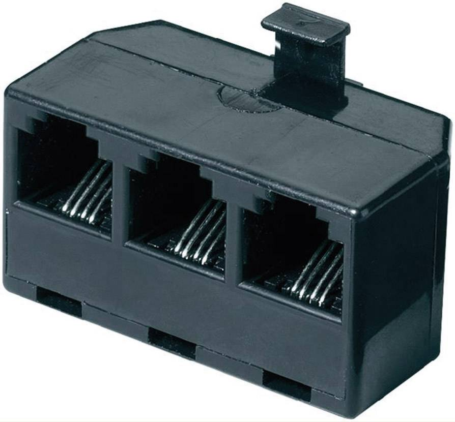 RJ11 Y adaptér 922725, 0 m, čierna