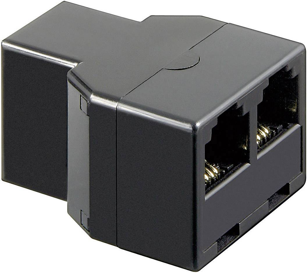 Western adaptér [1x RJ11 zásuvka 6p4c - 2x RJ11 zásuvka 6p4c] 0 m černá Basetech