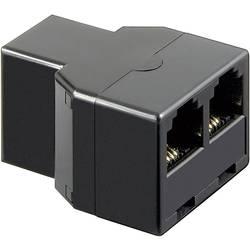 Western adaptér [1x RJ11 zásuvka 6p4c - 2x RJ11 zásuvka 6p4c] 0.00 m černá Basetech