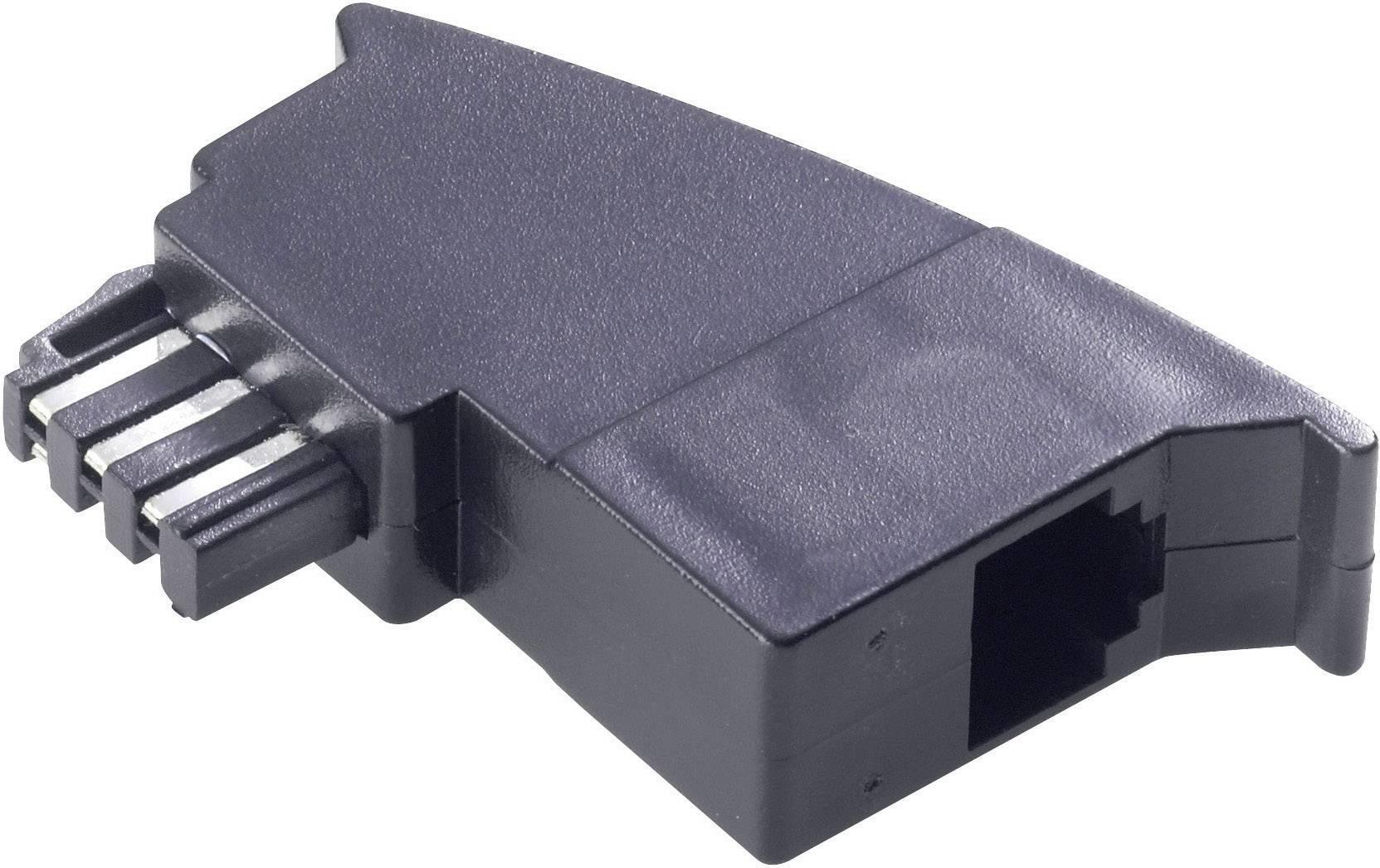 Telefonní adaptér [1x telefonní zástrčka TAE-F - 1x RJ11 zásuvka 6p4c] 0 m černá Basetech