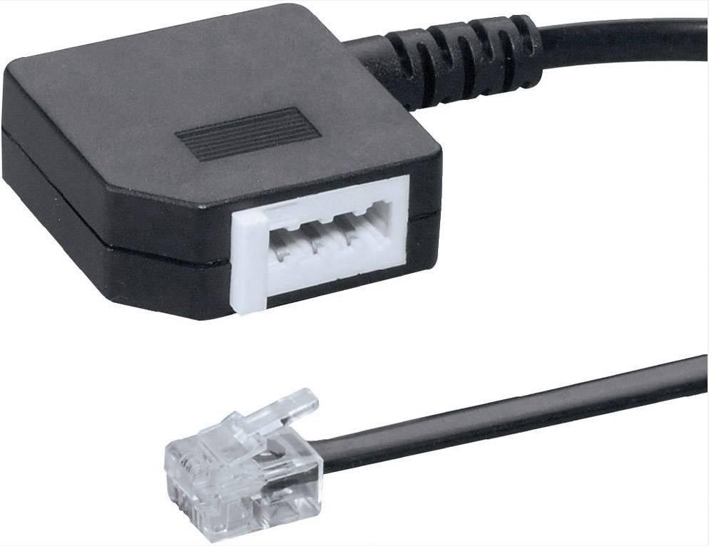 Adaptér RJ11, TAE Basetech BT-1602109, 0.20 m, černá