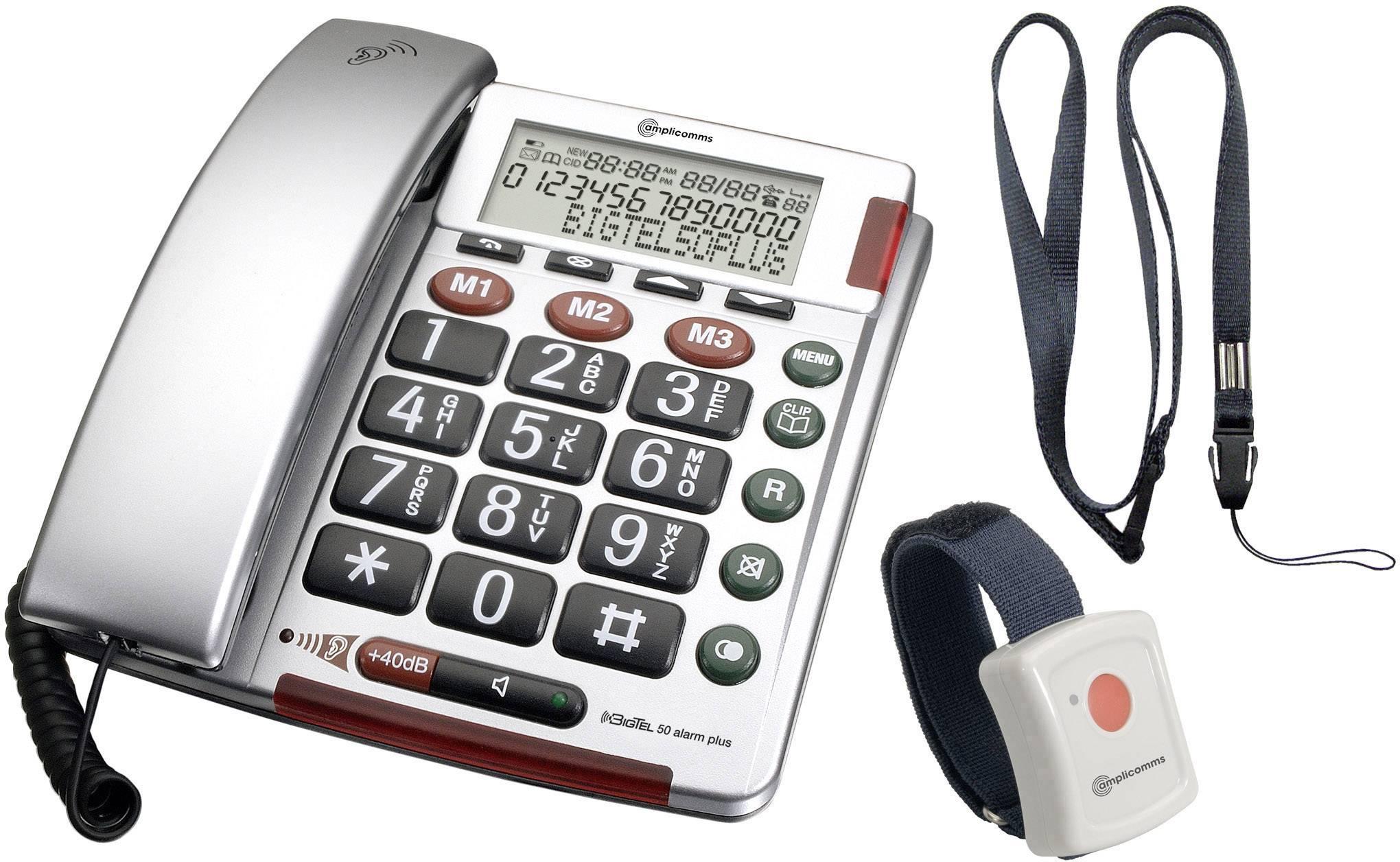 TELEFÓN AUDIOLINE BIGTEL 50 ALARM PLUS