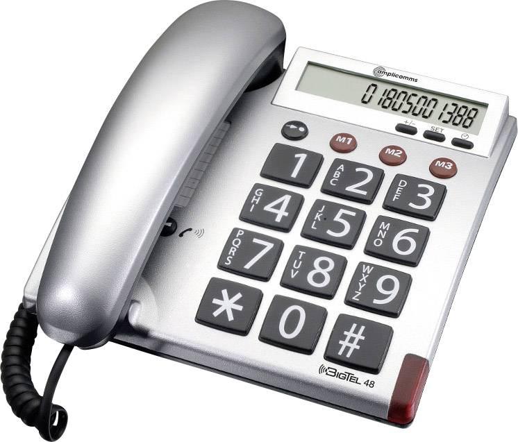 Audioline BigTel šnúrový analógový telefón