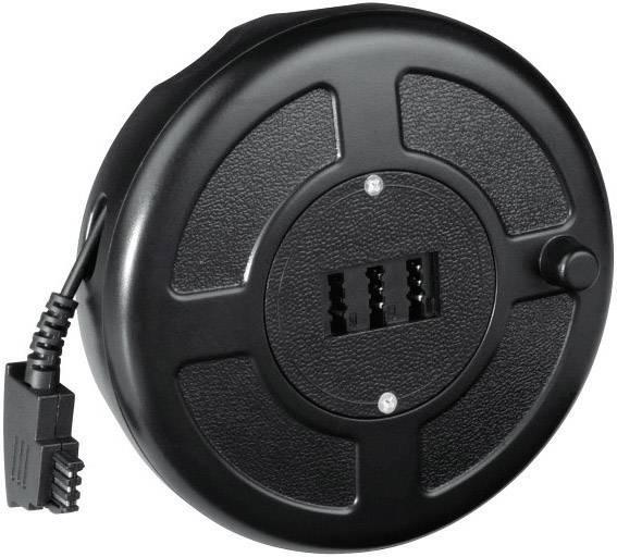 Buben na telefonní kabel Hama, TAE-F zástrčka ⇔ TAE-NFN zásuvka, černá, 15 m