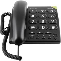 Šňůrový telefon pro seniory doro PhoneEasy 311c optická signalizace hovoru, handsfree bez displeje černá