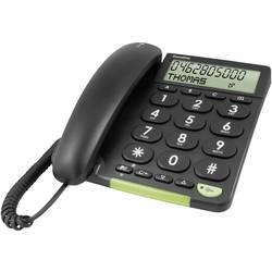 Šňůrový telefon pro seniory doro PhoneEasy 312cs optická signalizace hovoru matný černá