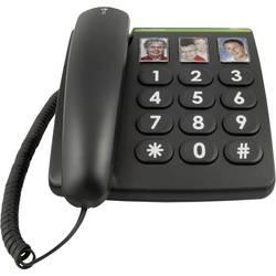 Šňůrový telefon pro seniory doro PhoneEasy 331ph tlačítko fotoaparátu bez displeje černá