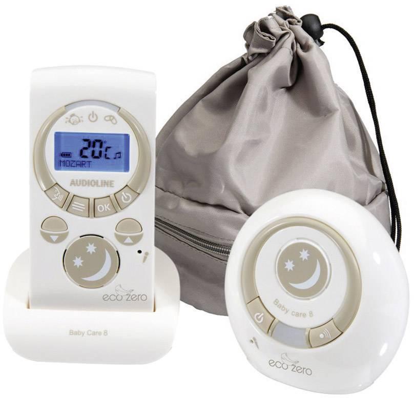 S digitálnym prenosom elektronická detská opatrovateľka Audioline 594197 Baby Care 8, 1.8 GHz