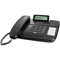Šňůrový telefon, analogový Gigaset DA710 konektor na sluchátka, handsfree matný černá