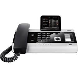 Systémový telefon, ISDN Gigaset DX600A ISDN záznamník, bluetooth barevný displej stříbrná, černá