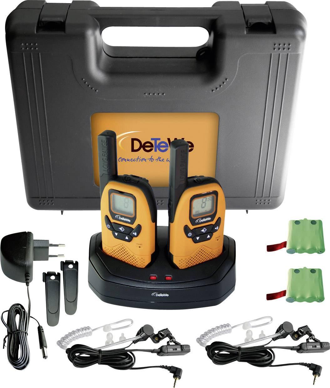Kufřík s PMR vysílačkami DeTeWe Outdoor 8000 DUO Case, 208046