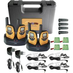 Sada 4 PMR rádiostaníc DeTeWe Outdoor 8000 Quad Case s kufríkom