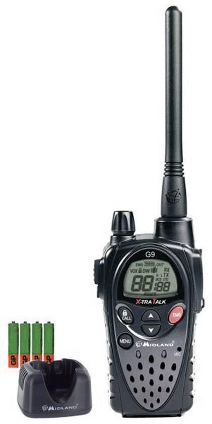 PMR rádiostanica Midland G9 Profi, sada 4 ks