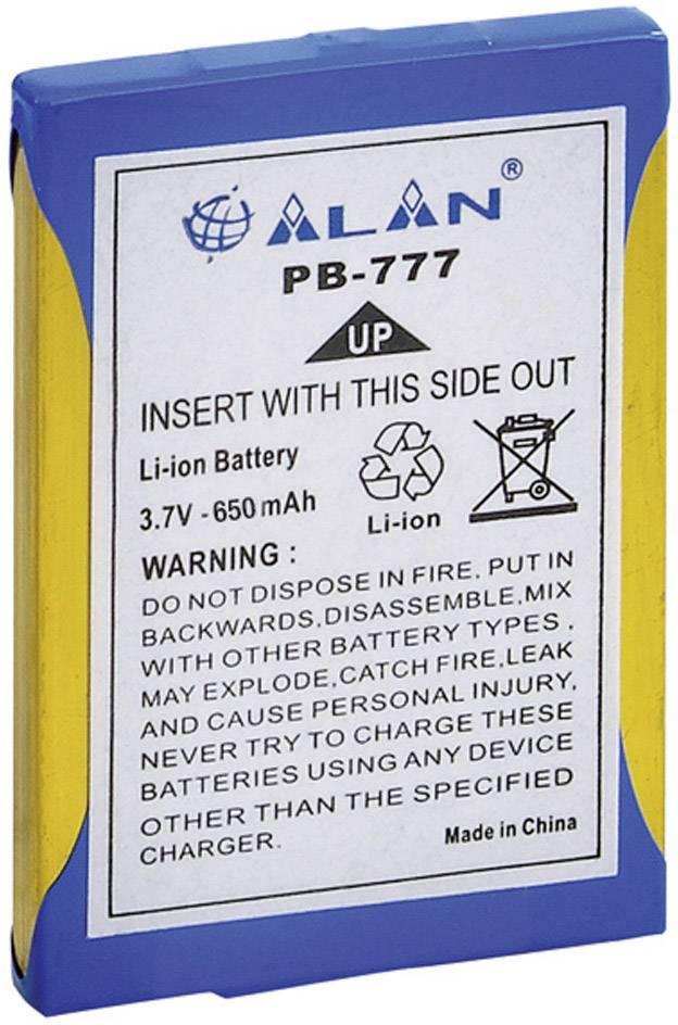 Akumulátor pre rádiostanice Midland, nahrádza PB-777, 3.7 V, 600 mAh, C783