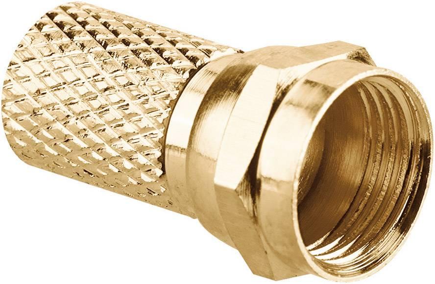 Pozlacený F konektor Renkforce pro Ø 7,5 mm