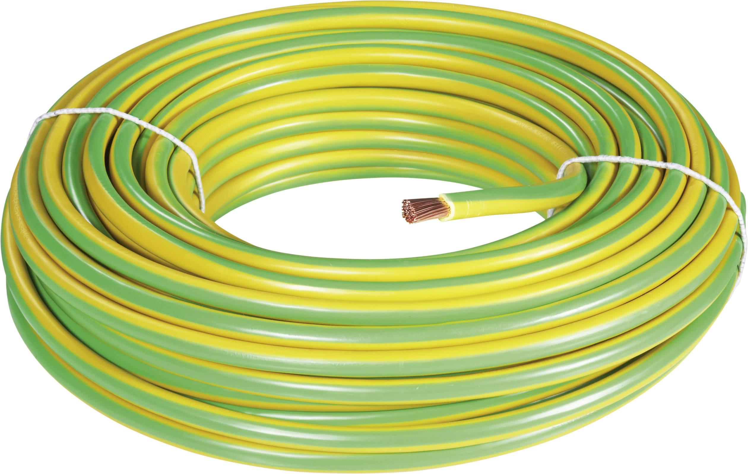 Uzemňovací kábel BKL Electronic H07V-K 1502034/25, 16 mm², 25 m, zelenožltá