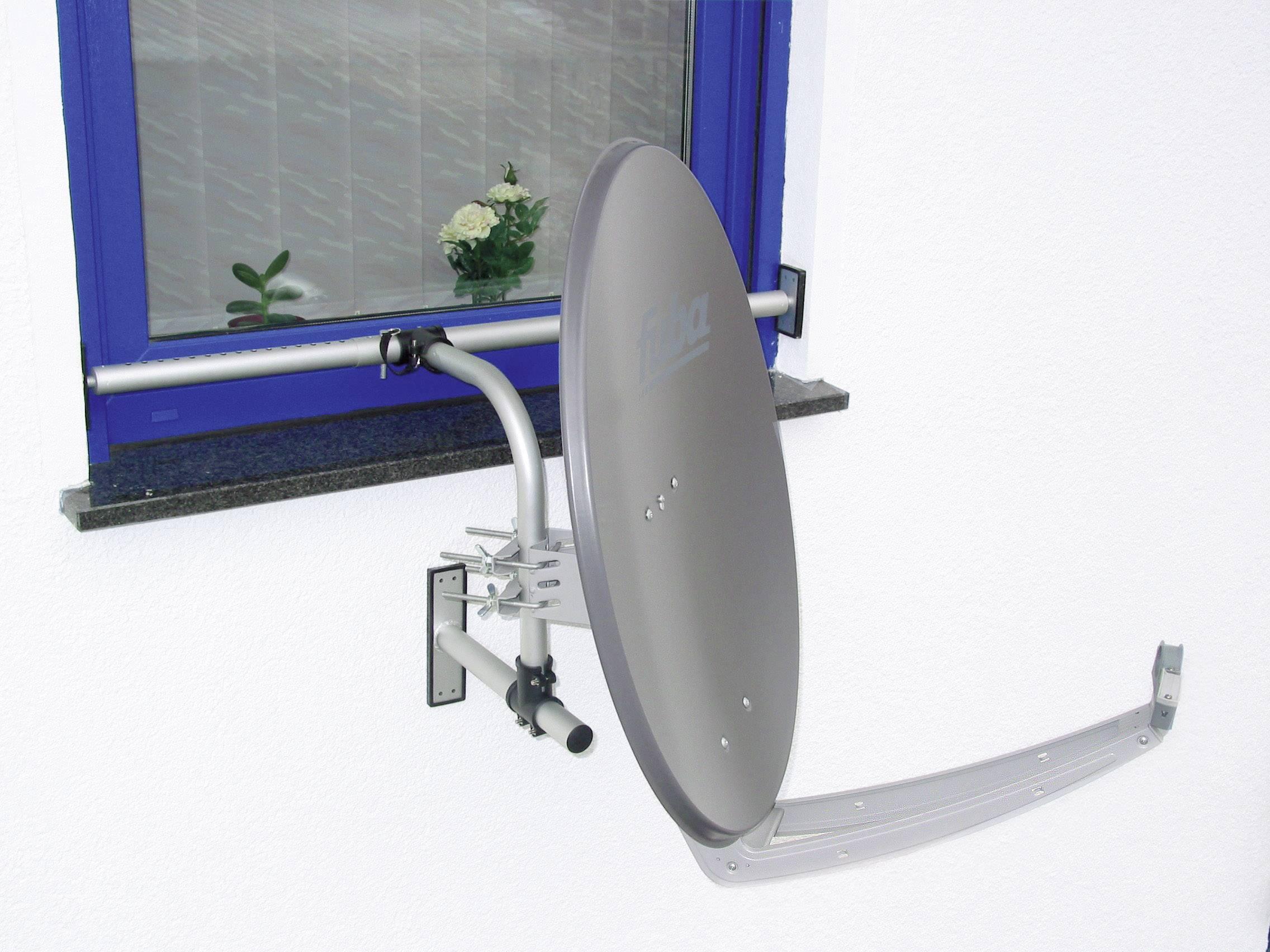 Držák SAT antény na okno A.S. SAT, do Ø 75 mm