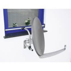 SAT držiak na okná A.S. SAT 12100, Ø do 75 cm, hliník, strieborná