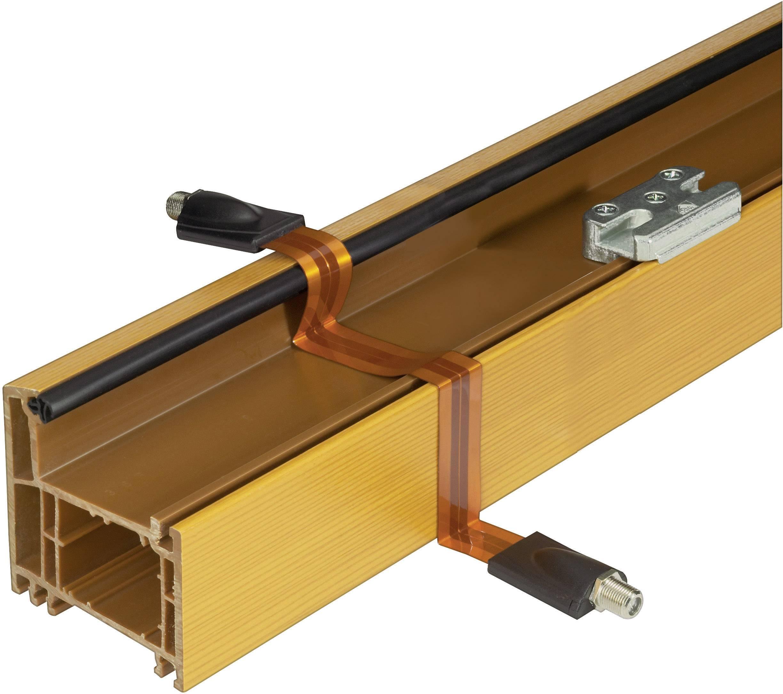 SAT spojka pro plastová okna 2x F-zásuvka Renkforce, 25 cm, měděná