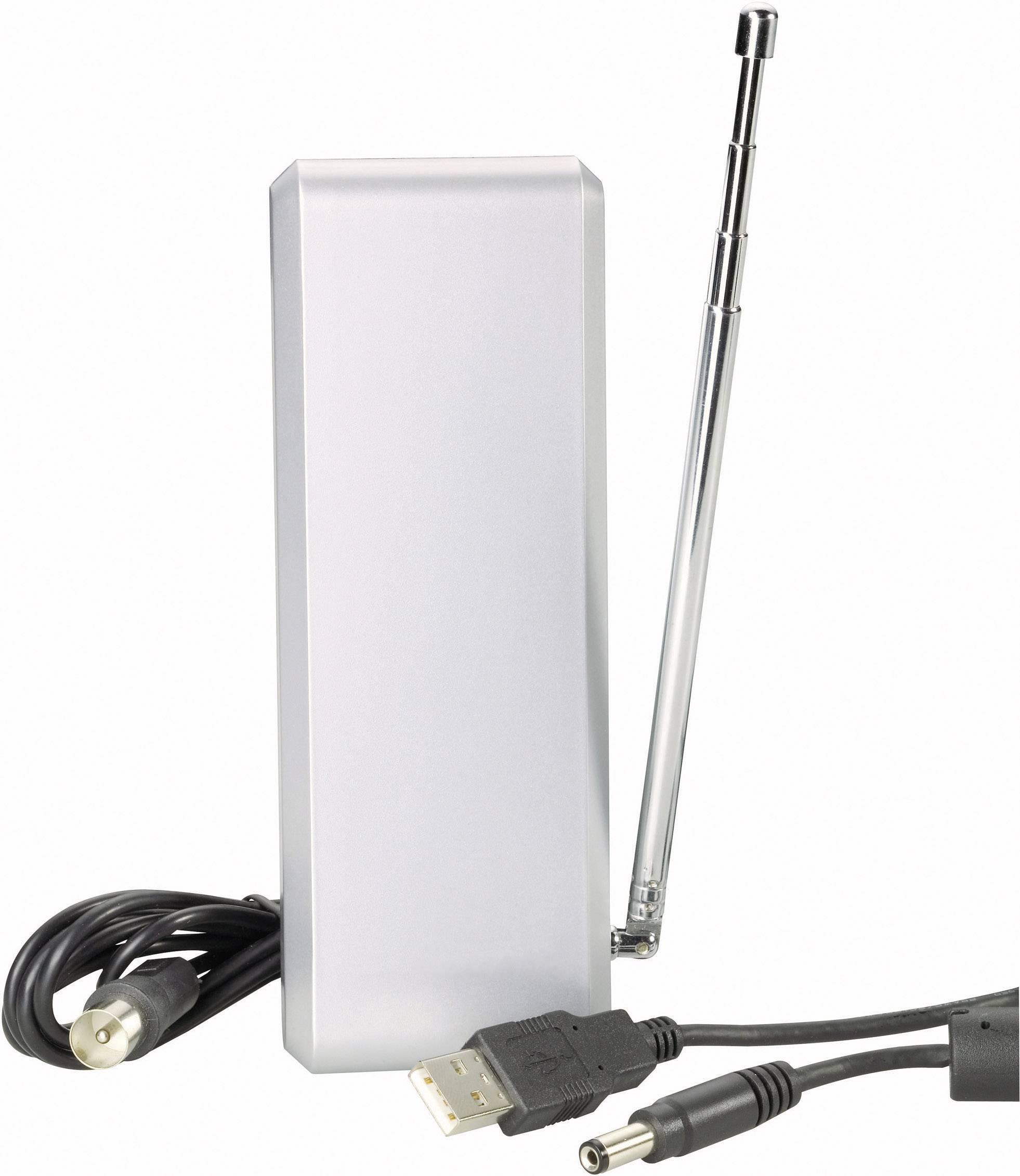 Aktivní vnitřní plochá DVB-T anténa Renkforce DA 7000A, 20 dB
