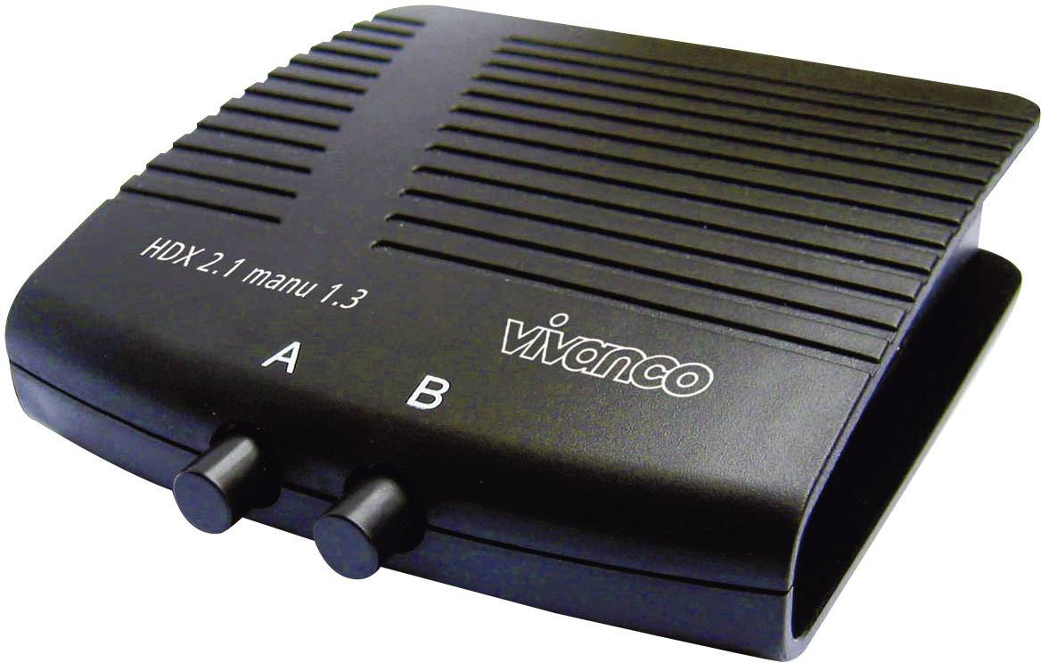 Prepínač HDMI Vivanco 25349 25349, s 2 portmi