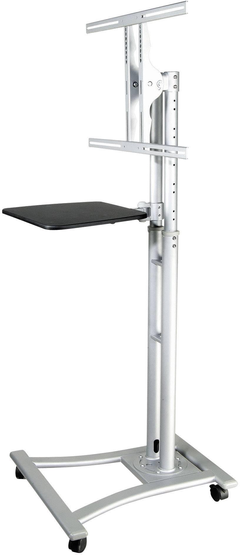 """TV držák na kolečkách B-Tech RW8620/S, 69 - 152,4 cm (27""""- 60""""), stříbrná"""