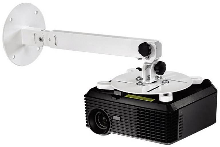 Stropný držiak na projektor sklápajúci, otočný Hama 84422 84422, biela