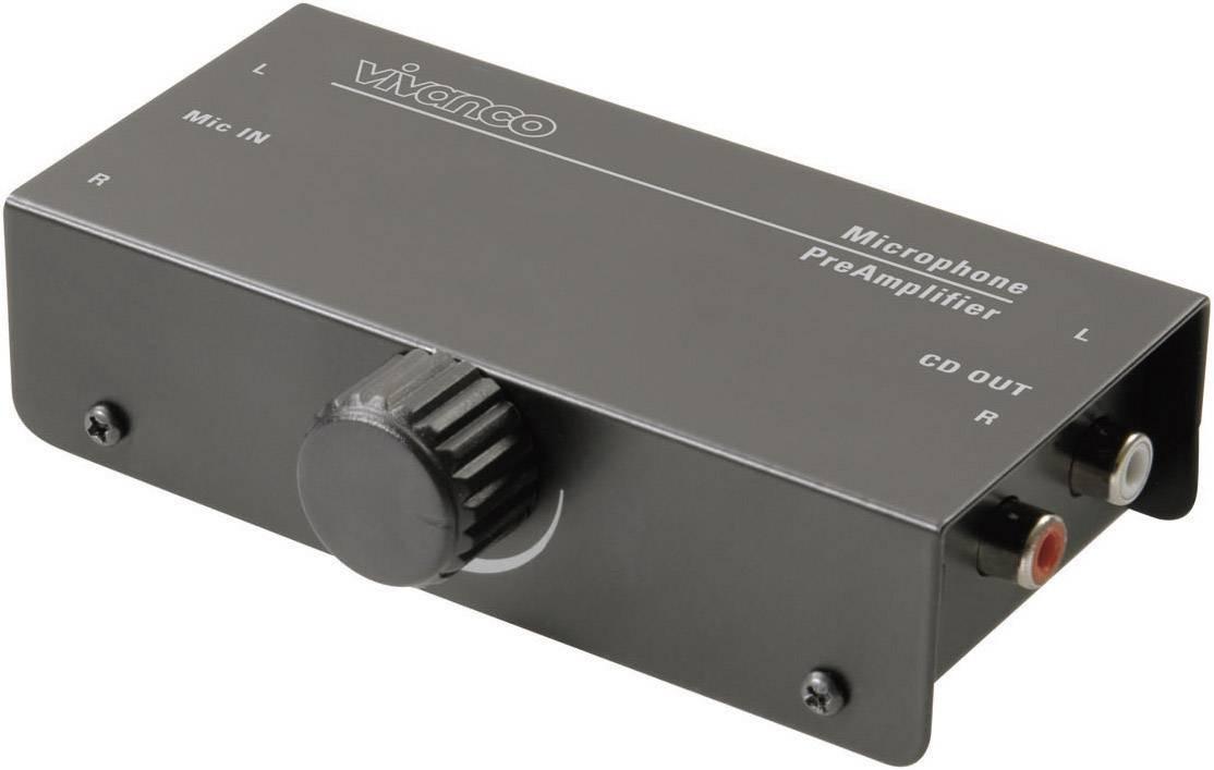Mikrofónny predzosilňovač Vivanco MA 225 30339, 1-kanálový