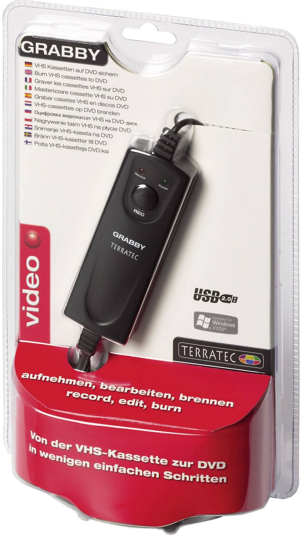 USB zariadenie na prevod videa do digitálneho záznamu, Terratec Grabby 10620