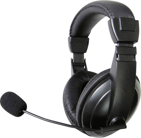 Headset k PC TW-260A, čierna