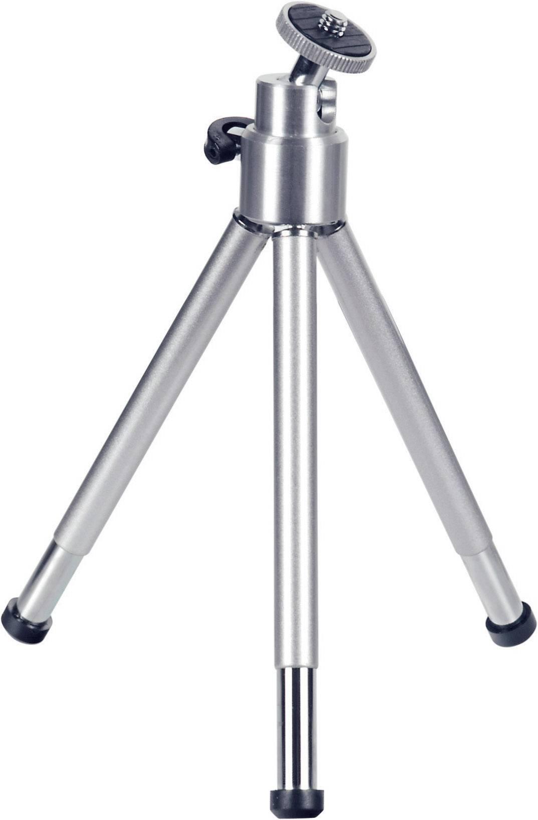"""Mini statív Hama 62004009, 1/4"""", min./max.výška 14 - 21 cm, strieborná"""