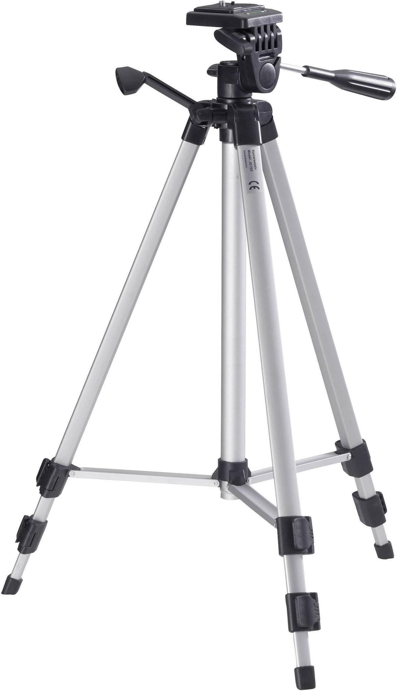 """Trojnohý statív 954464, 1/4"""", min./max.výška 51.5 - 134.5 cm, strieborná"""