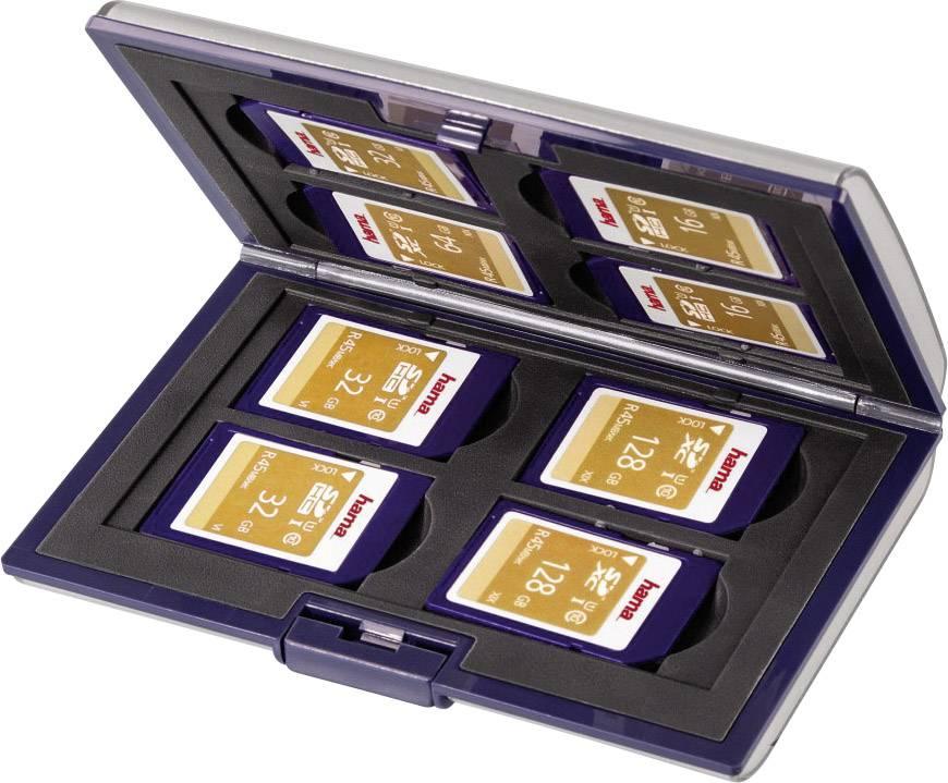 Puzdro pre pamäťové karty Hama 49915, strieborná