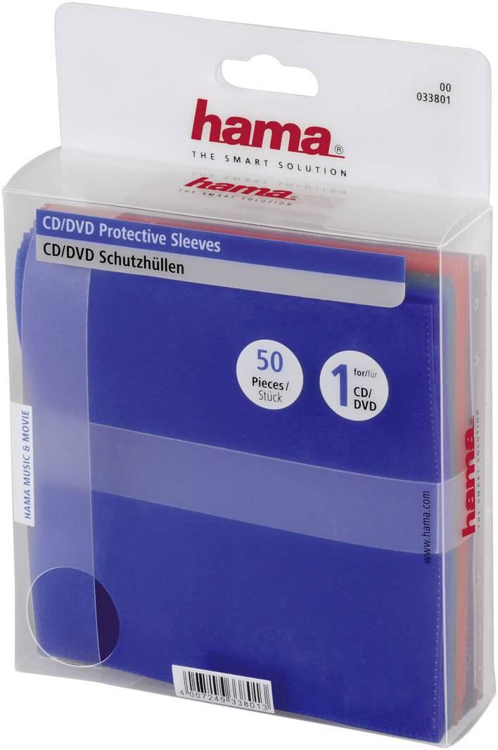 CD polypropylenová pošetka, 50ks - mix barev