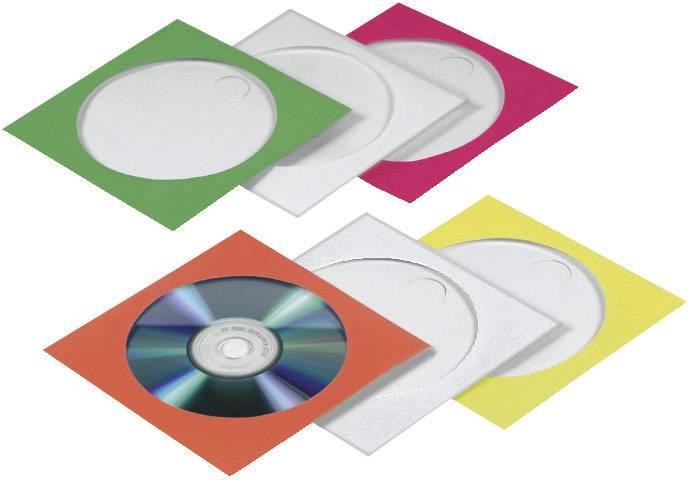 Barevné papírové obaly pro CD/DVD, 50 ks