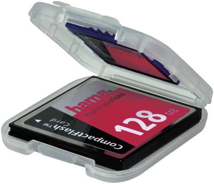 Puzdro na pamäťové karty Hama 00049921, priehľadná