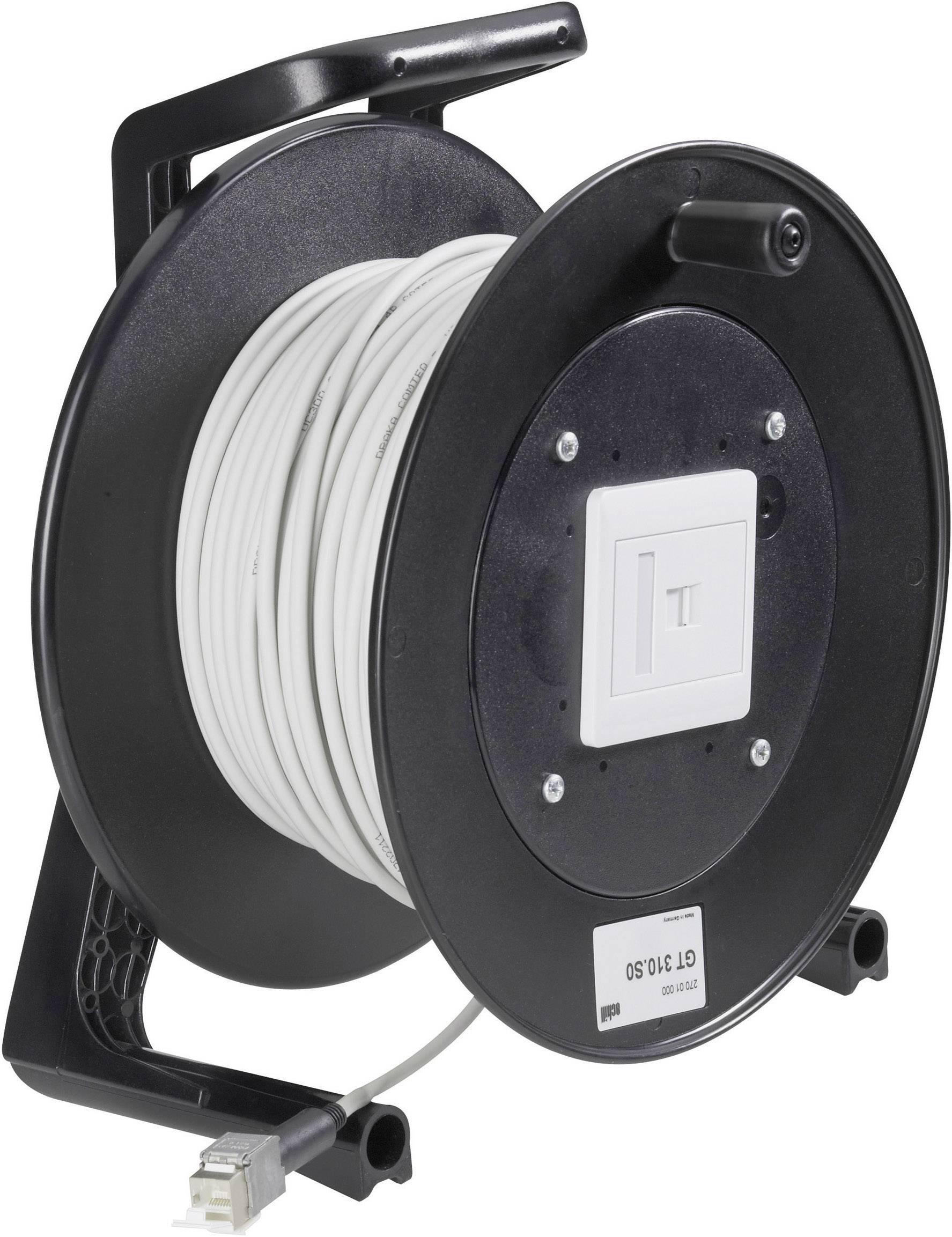 Síťové kabely na kabelovém bubnu