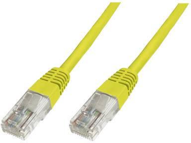 Sieťový prepojovací kábel RJ45 Digitus Professional DK-1511-005/Y, CAT 5e, U/UTP, 0.5 m, žltá