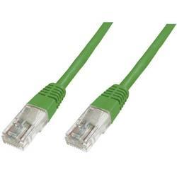 Síťový kabel RJ45 Digitus DK-1511-005/G, CAT 5e, U/UTP, 0.50 m, zelená