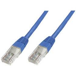 Síťový kabel RJ45 Digitus DK-1511-100/B, CAT 5e, U/UTP, 10.00 m, modrá