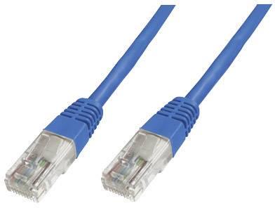 Sieťový prepojovací kábel RJ45 Digitus Professional DK-1511-100/B, CAT 5e, U/UTP, 10 m, modrá