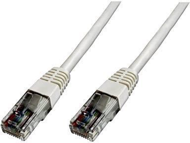 Sieťový prepojovací kábel RJ45 Digitus Professional DK-1511-010/WH, CAT 5e, U/UTP, 1 m, biela