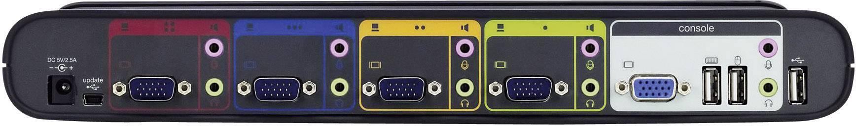 Prepínač KVM Linksys KVM-Switch, s 4 portmi