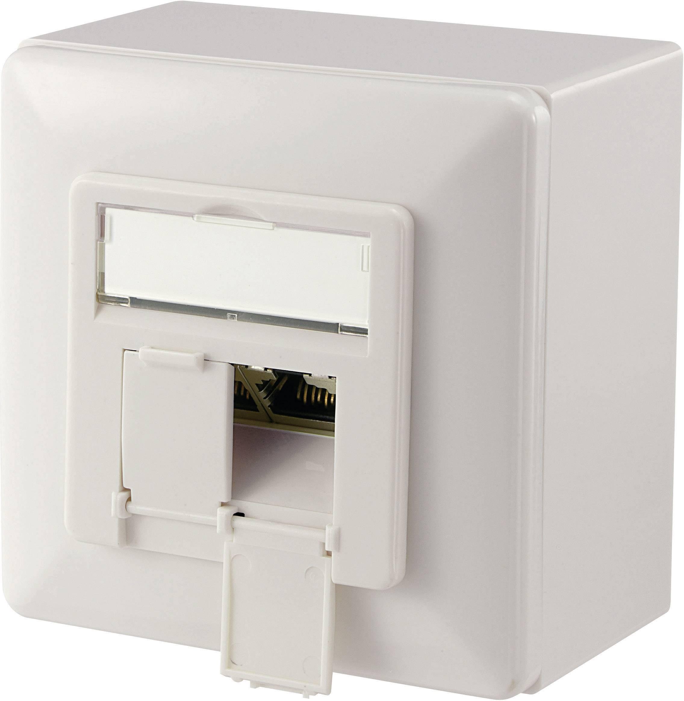 Sieťová zásuvka na omietku Digitus Professional DN-9007-S-1, CAT 6, s 2 portmi