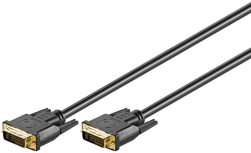 DVI prepojovací kábel Goobay 69207, 5 m, čierna