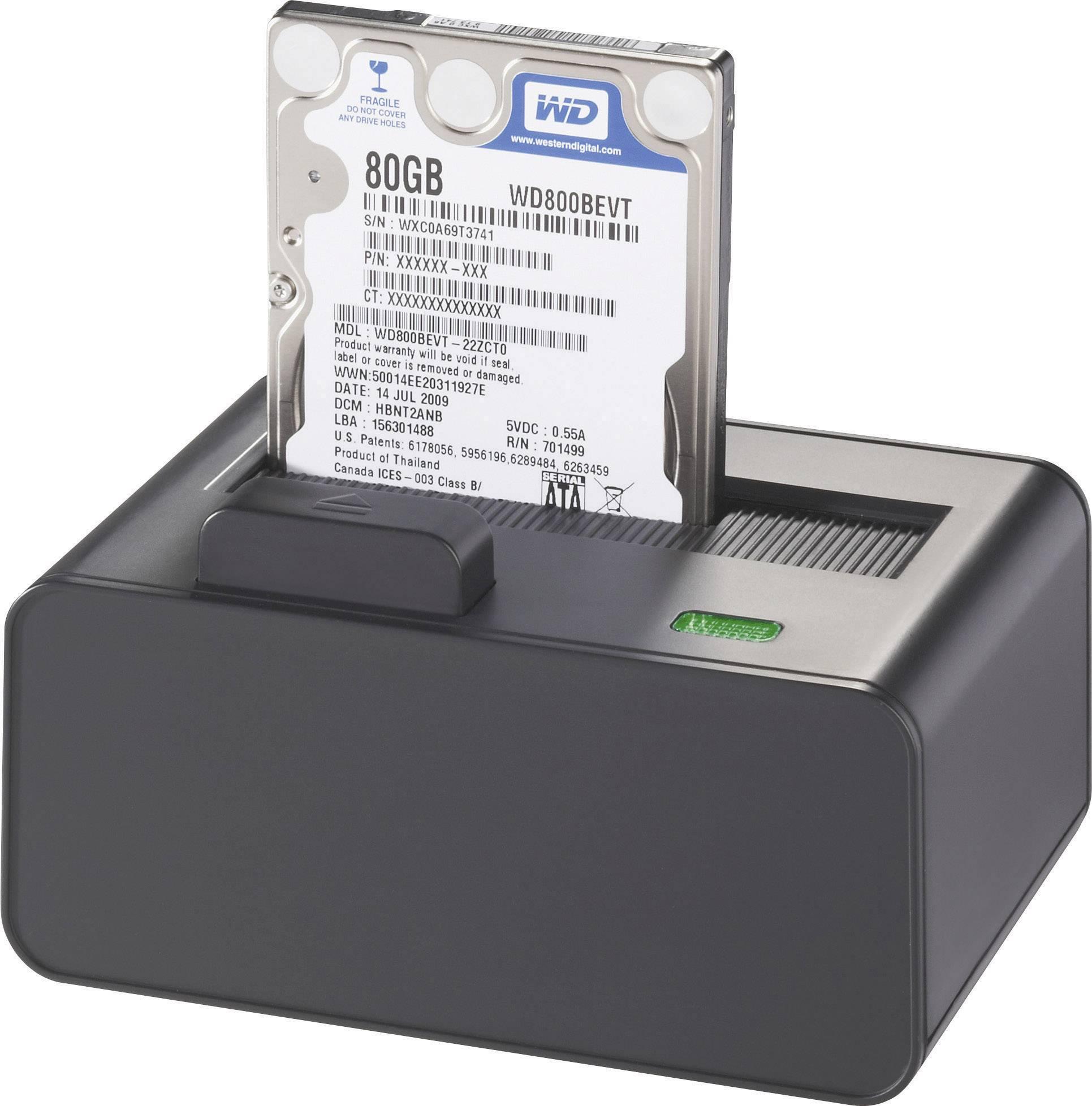 Dokovací stanice pro pevný disk Renkforce rf-docking-01 RF-3039978, SATA, USB 2.0, eSATA