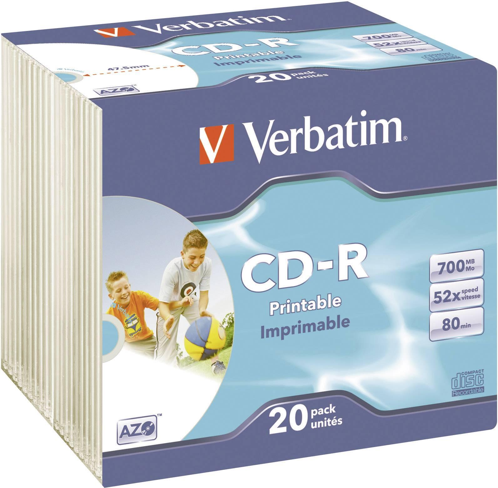 Verbatim CD-R80 700MB 52X 20 ks SC PRINT