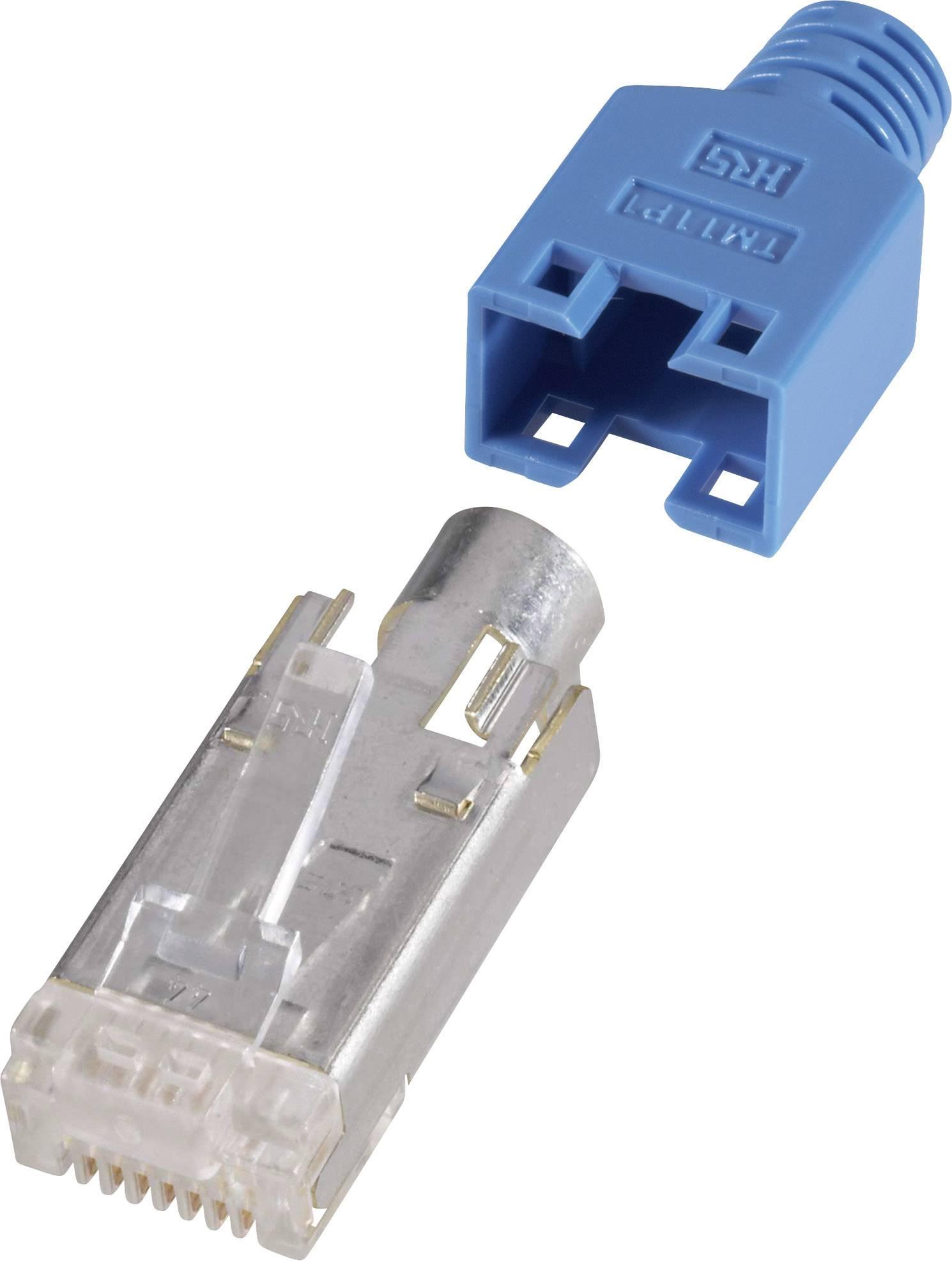 RJ45 zástrčka, rovná Hirose Electronic HRS8BL10, modrá, 10 ks