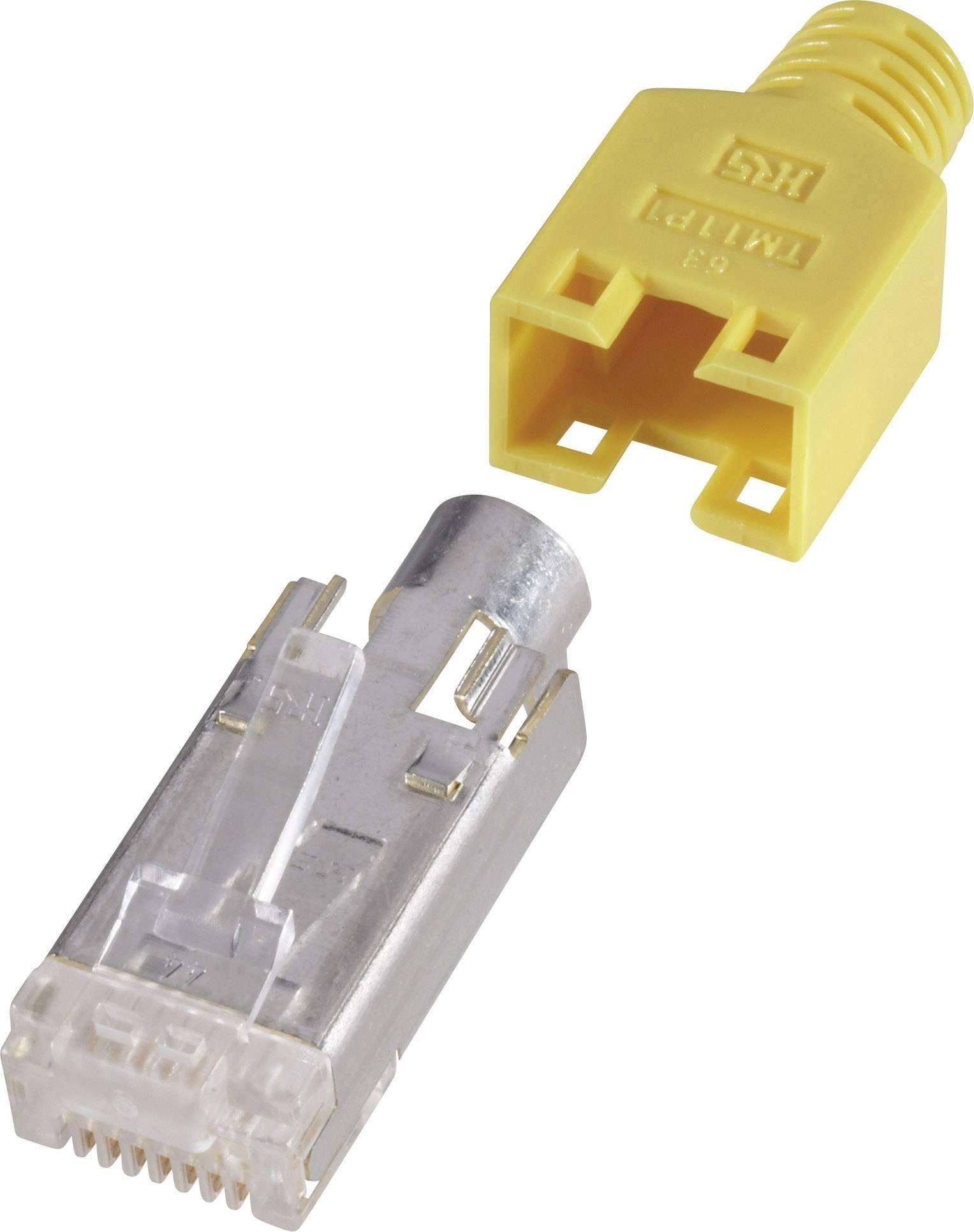 RJ45 zástrčka, rovná Hirose Electronic HRS8GE10, žltá, 10 ks